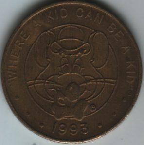 Chuck E Cheese 1993 Token