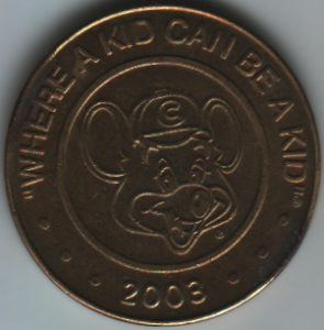Chuck E Cheese 2003 Token
